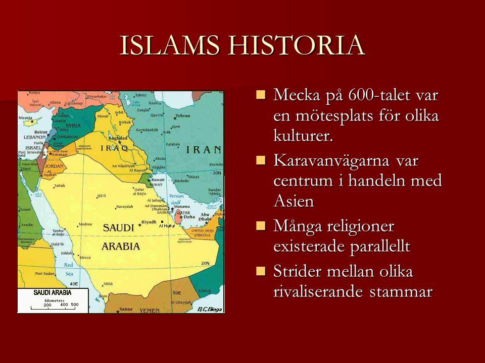 ISLAMS HISTORIA Mecka på 600-talet var en mötesplats för olika kulturer.