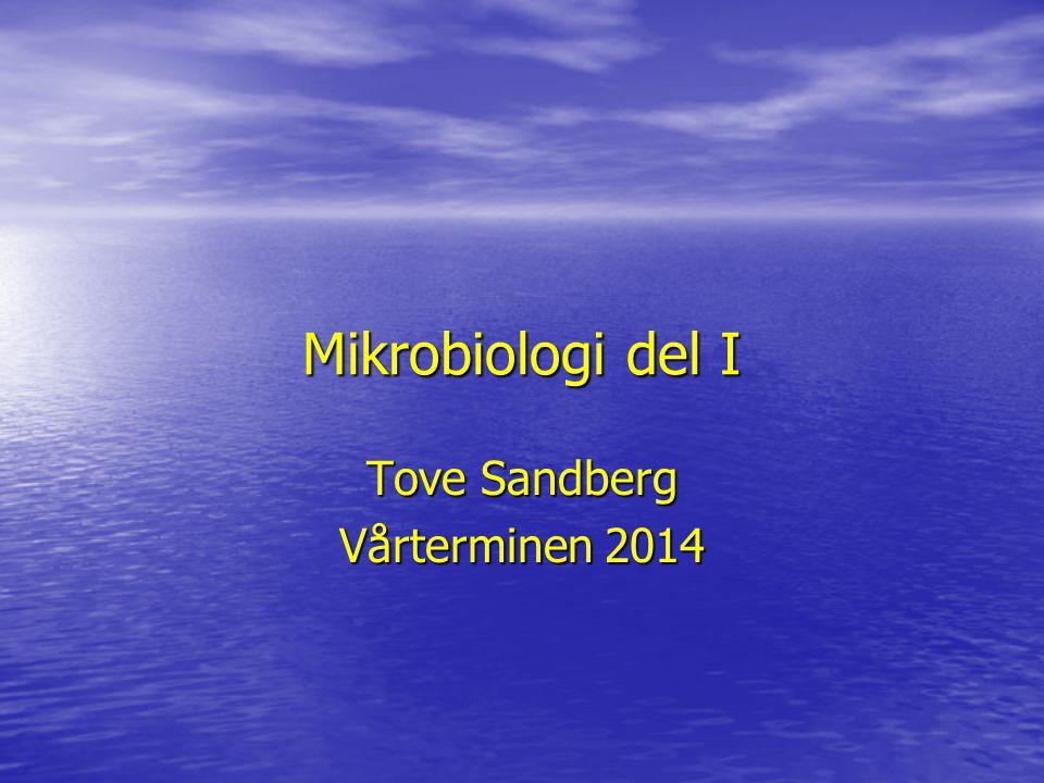 Mikrobiologi del I Tove Sandberg Vårterminen 2014