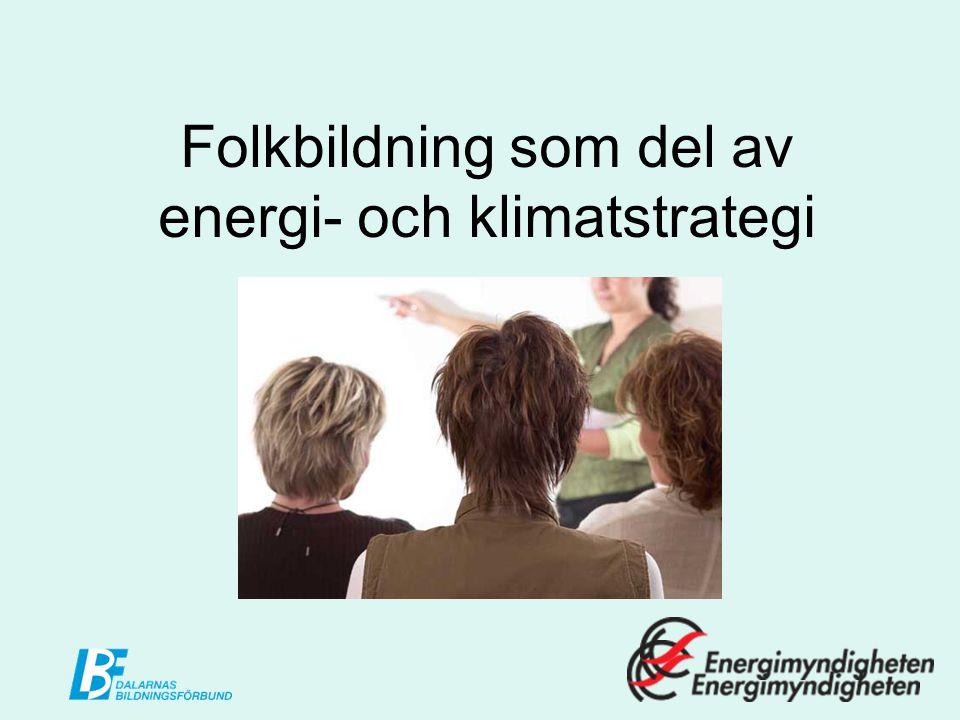 Projektets syfte..att i samarbete med Länsstyrelsen Dalarna, Dalarnas kommuner och övriga aktörer inom nätverket Energiintelligent Dalarna arrangera folkbildningsverksamhet där invånarna i Dalarna får kunskaper som gör det möjligt att genomföra den klimat- och energistrategi som Länsstyrelsen Dalarna fastställt.