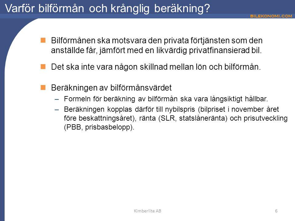 bilekonomi.com Varför bilförmån och krånglig beräkning.
