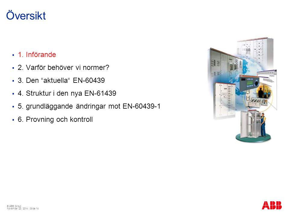 © ABB Group November 23, 2014 | Slide 14 Översikt  1.