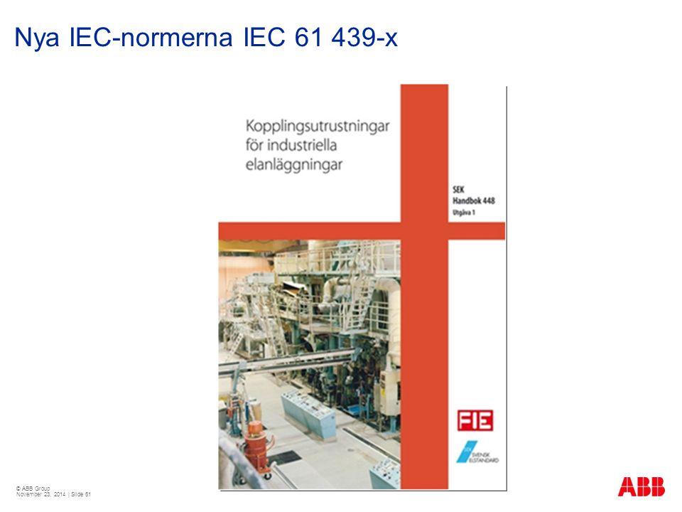 © ABB Group November 23, 2014 | Slide 61 Nya IEC-normerna IEC 61 439-x