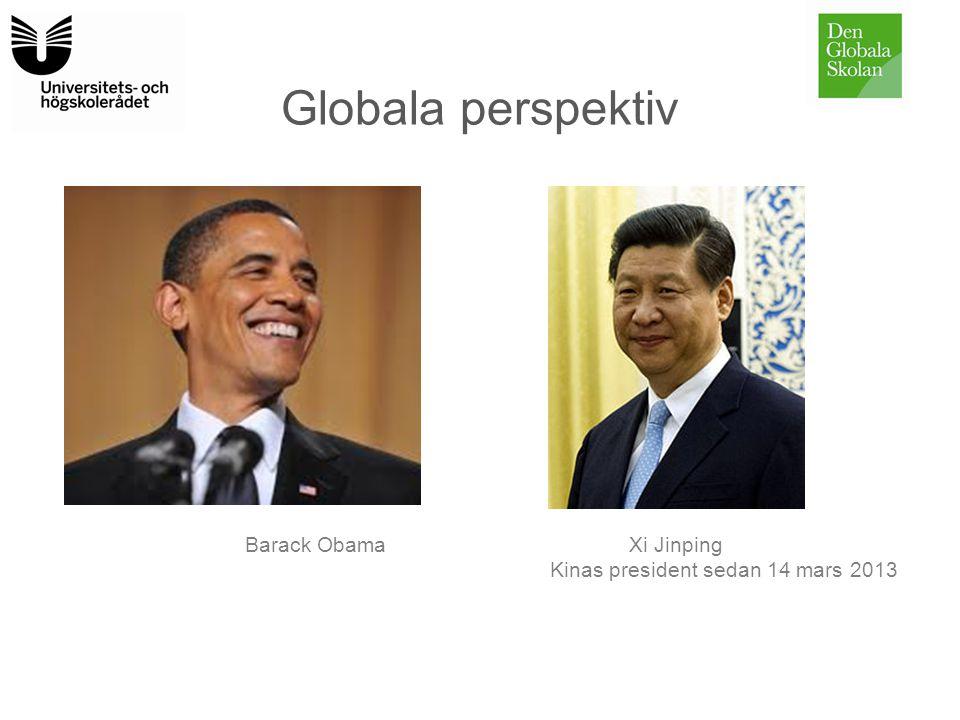 Globala perspektiv Barack ObamaXi Jinping Kinas president sedan 14 mars 2013