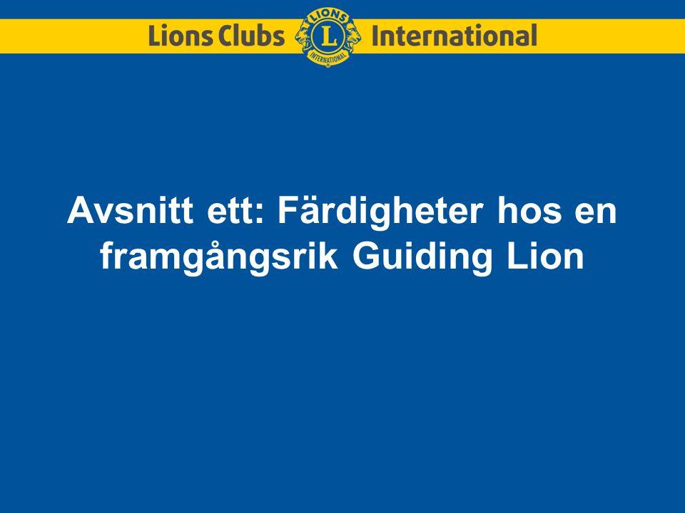 Avsnitt ett: Färdigheter hos en framgångsrik Guiding Lion