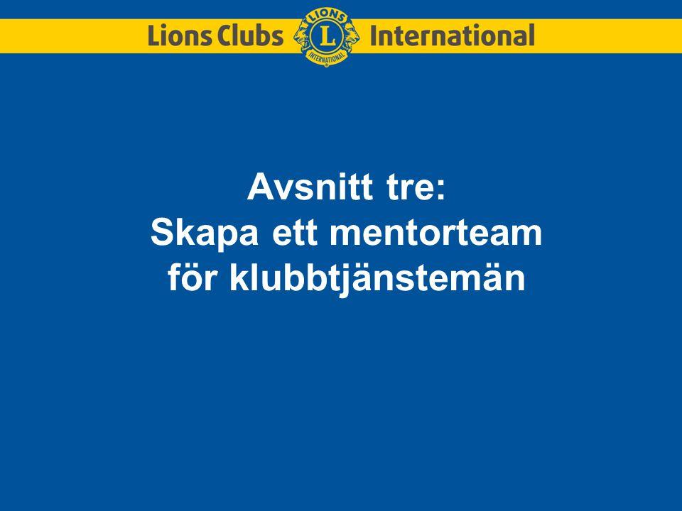 Avsnitt tre: Skapa ett mentorteam för klubbtjänstemän