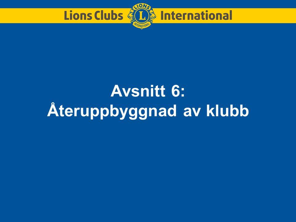 Avsnitt 6: Återuppbyggnad av klubb