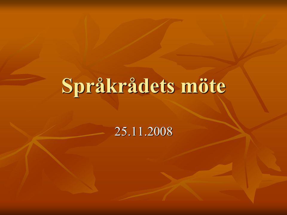 Språkrådets möte 25.11.2008