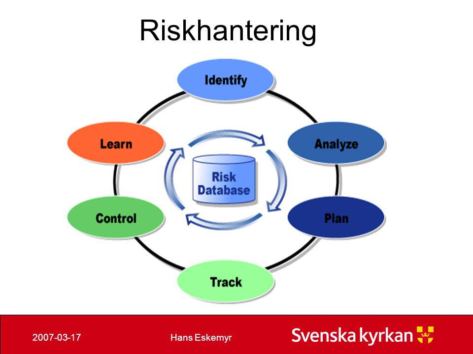 Hans Eskemyr2007-03-17 Riskhantering