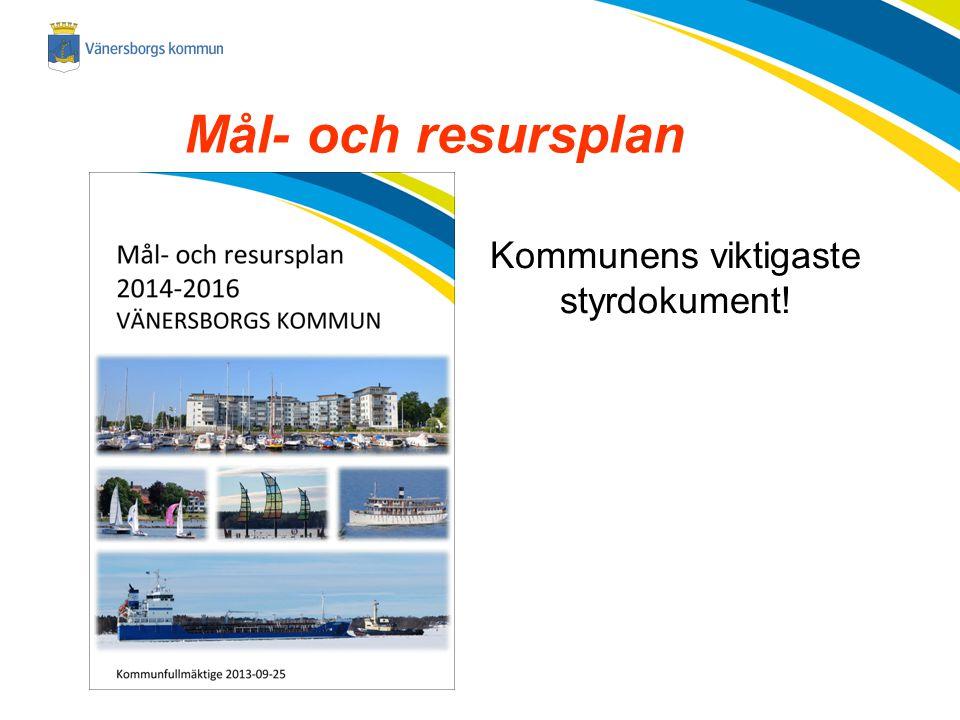 2014-11-23 Mål- och resursplan Kommunens viktigaste styrdokument!