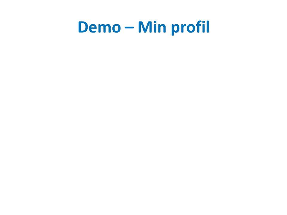 Demo – Min profil