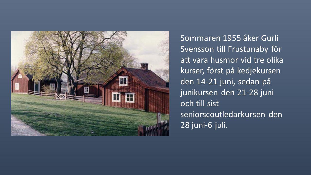 På sommaren 1954 åker sju stycken på förbundsläger på Tromtö i Blekinge skärgård. Här deltager 2 700 st. Lägeravgiften var 60 kr, och lägerchef var Es