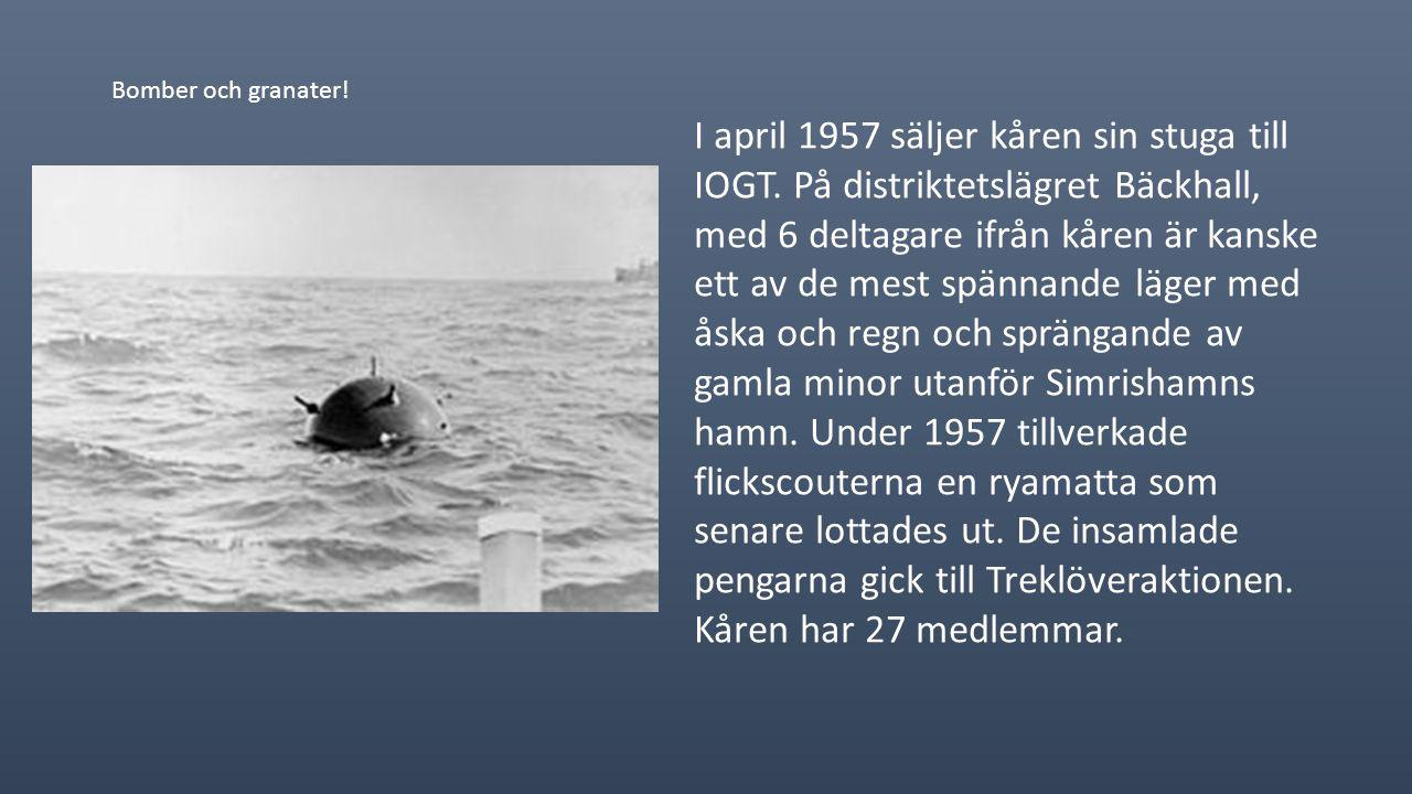 1956 blir Barbro Jeppson är ny kårledare. Blåvingarna är i Påarps småskola medan flickscouterna flyttar till IOGT´s lokaler vid Landsberg. Gurli Svens