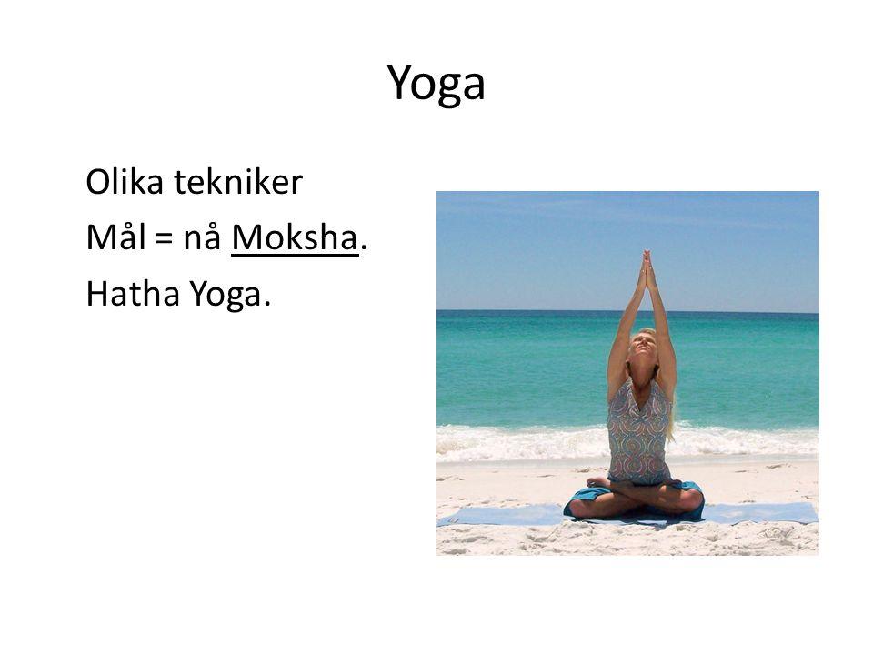 Yoga Hatha Yoga - kroppsövningar Mantra Yoga- Ljud och sång (Hare Krishna).