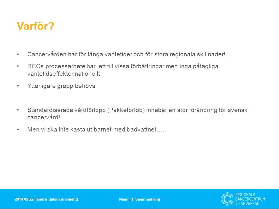 Svenska utmaningar Helt nytt arbetssätt.