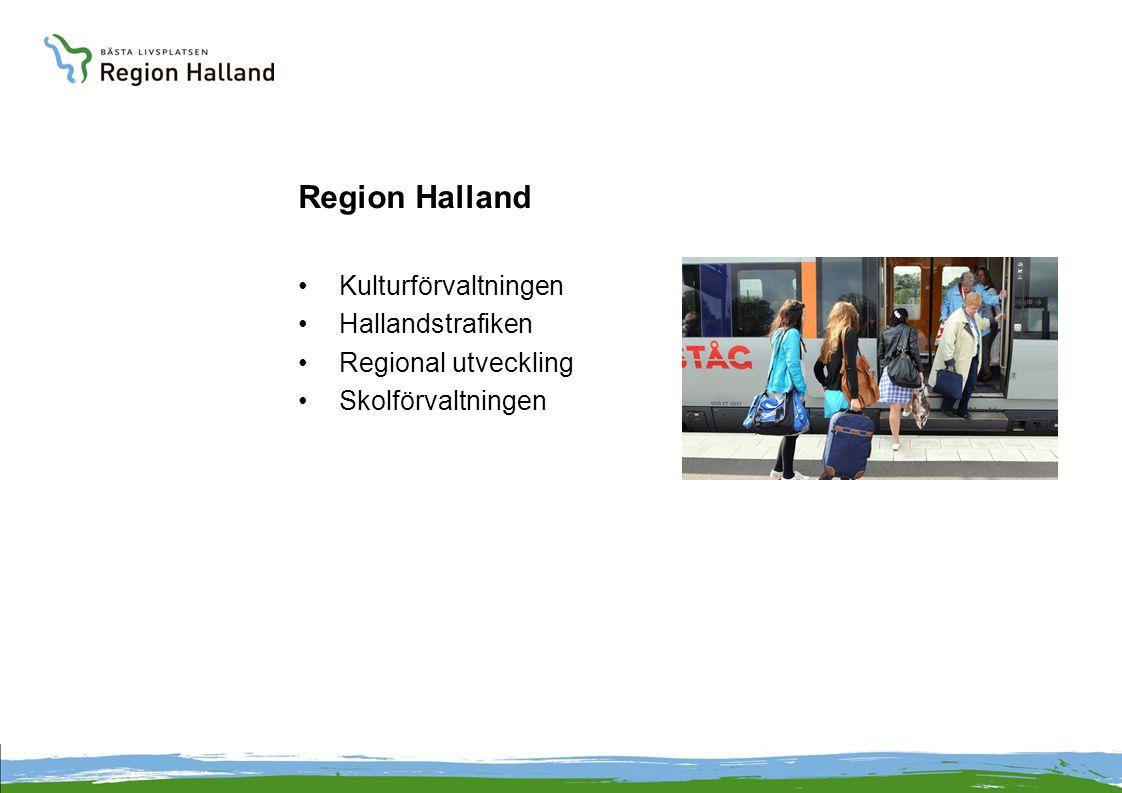 Region Halland Kulturförvaltningen Hallandstrafiken Regional utveckling Skolförvaltningen