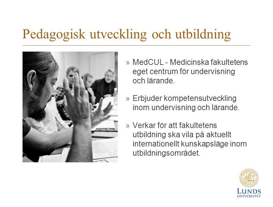 Pedagogisk utveckling och utbildning »MedCUL - Medicinska fakultetens eget centrum för undervisning och lärande.