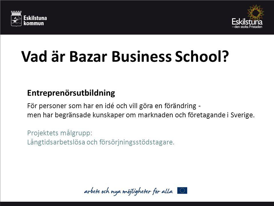 Vad är Bazar Business School.