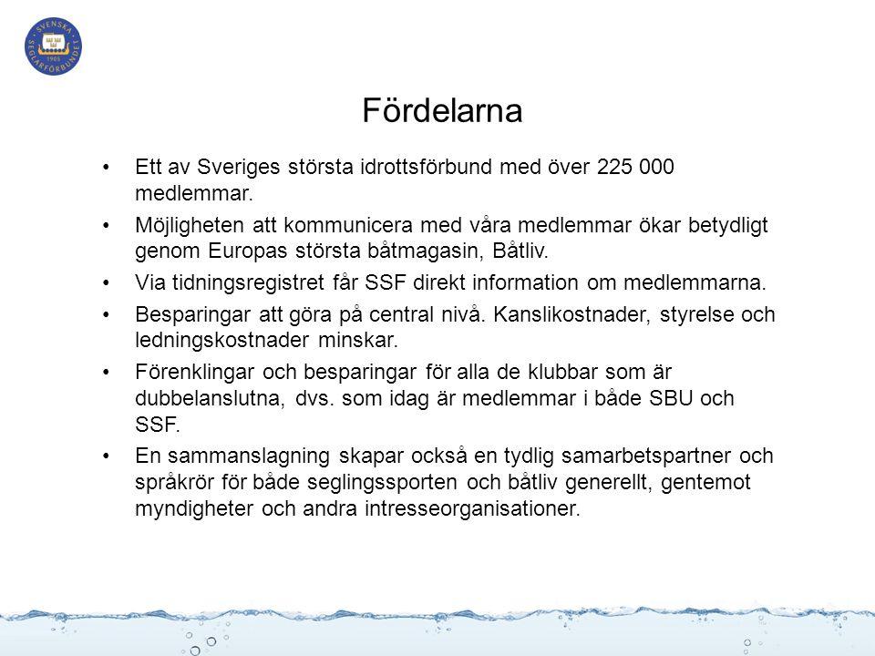 Fördelarna Ett av Sveriges största idrottsförbund med över 225 000 medlemmar.