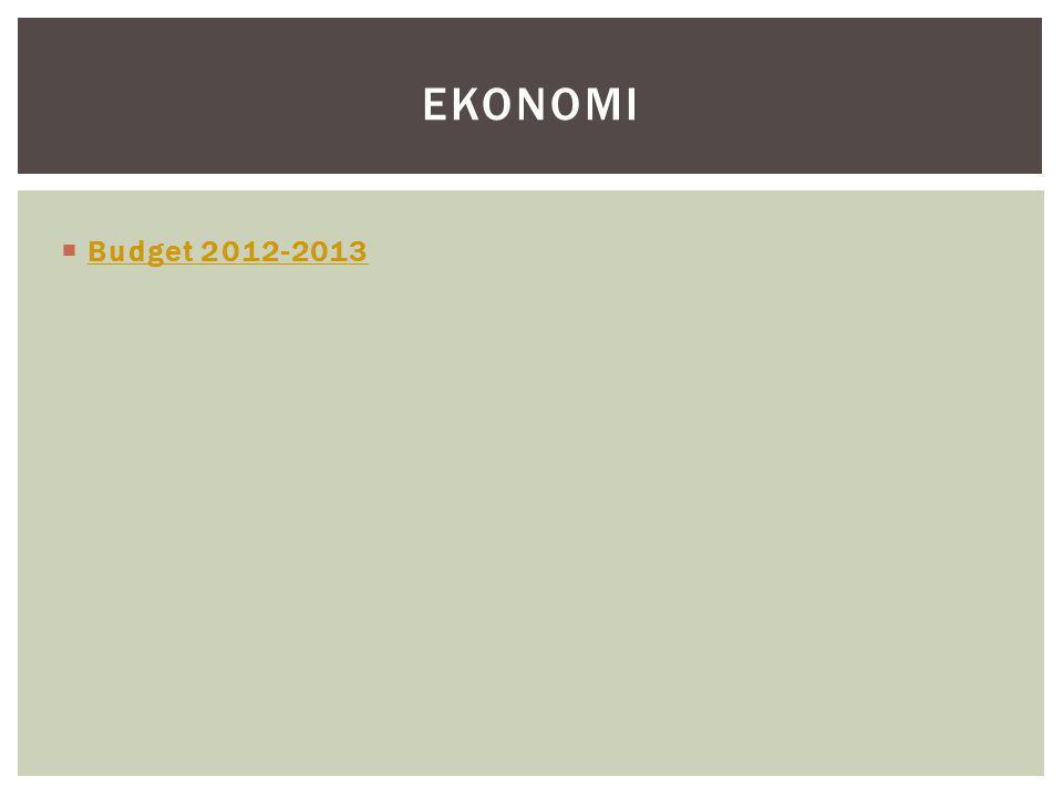  Budget 2012-2013 Budget 2012-2013 EKONOMI