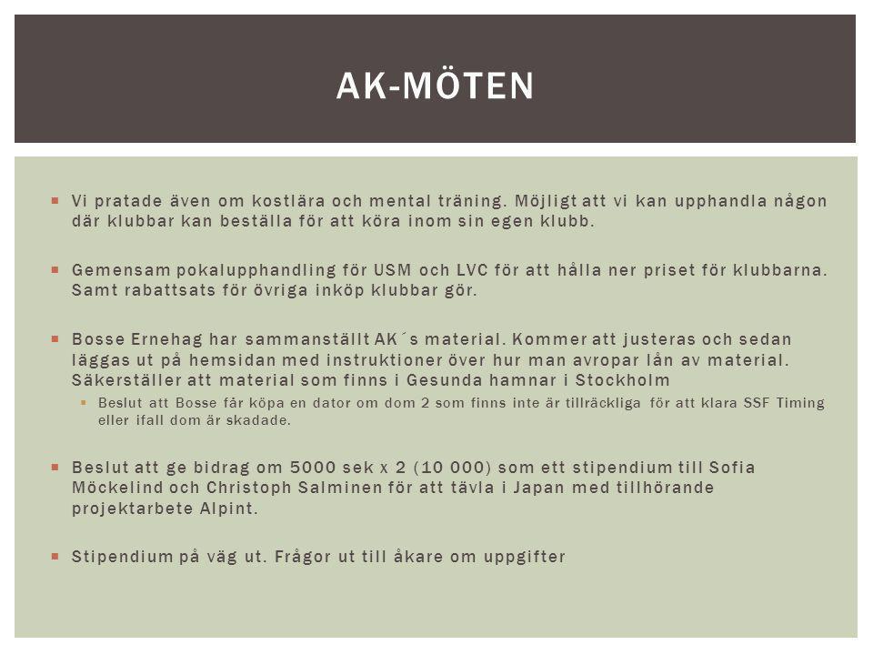 Ordförandemöte Augusti TRÄNING ULF ROCKSTRÖM