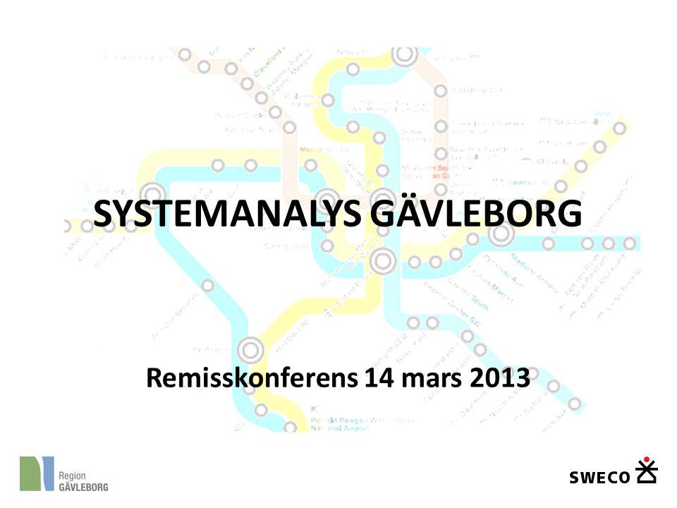 Remisskonferens 14 mars 2013 SYSTEMANALYS GÄVLEBORG