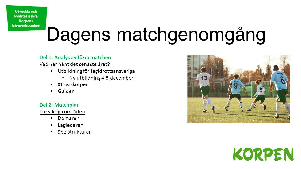 Dagens matchgenomgång Del 1: Analys av förra matchen Vad har hänt det senaste året.