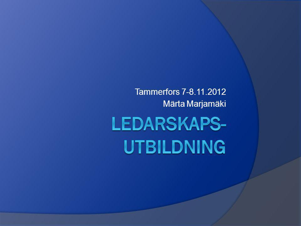 Tammerfors 7-8.11.2012 Märta Marjamäki
