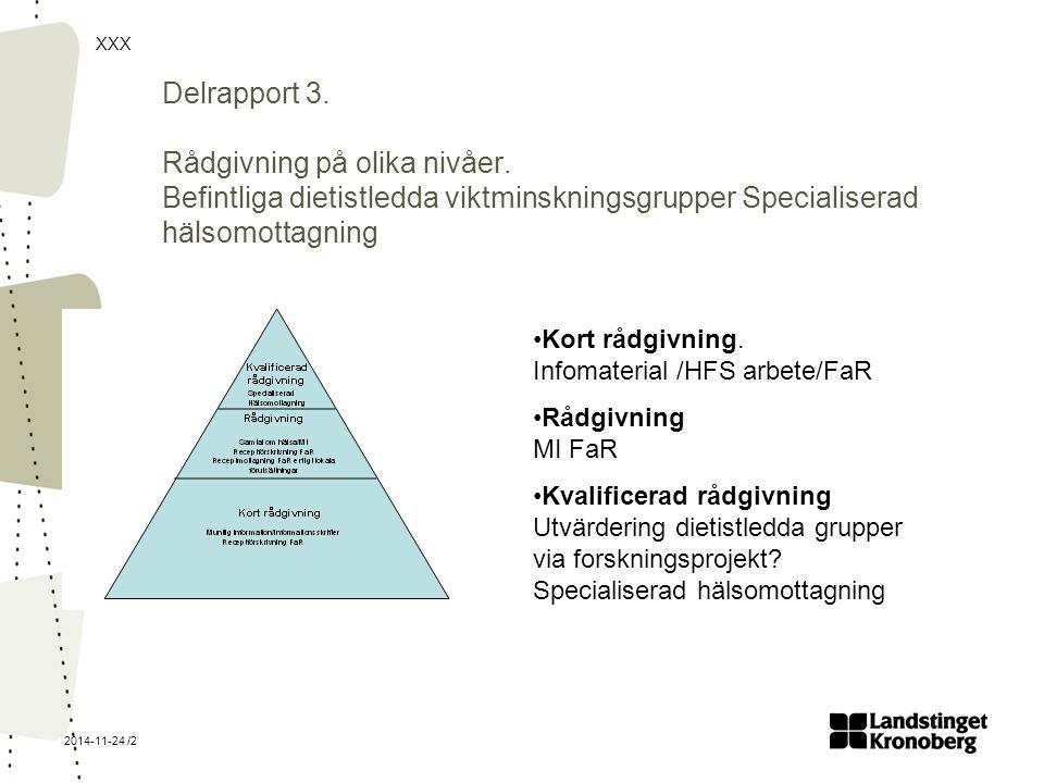 XXX 2014-11-24 /2 Delrapport 3.Rådgivning på olika nivåer.