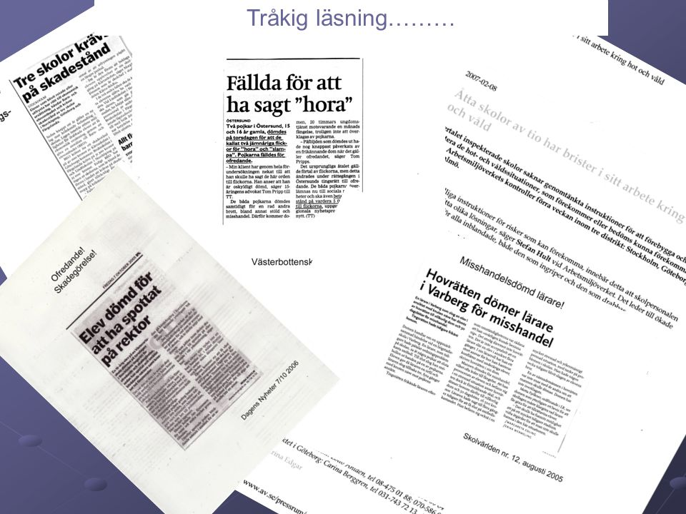 Tråkig läsning………