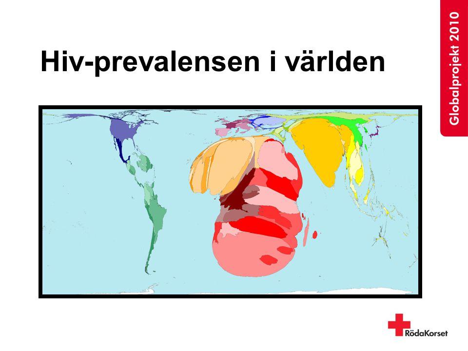 Hiv-prevalensen i världen