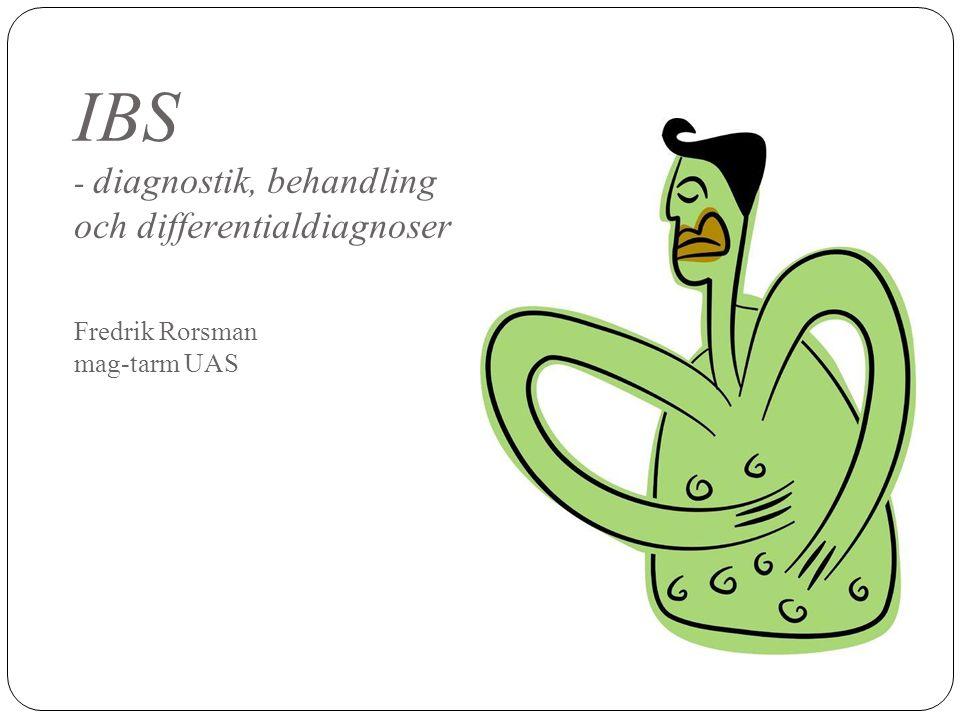 IBS - behandling - Uteslut organisk sjukdom - Information.