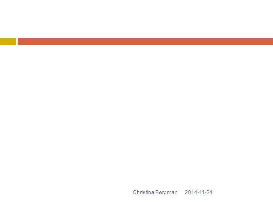 2014-11-24Christina Bergman