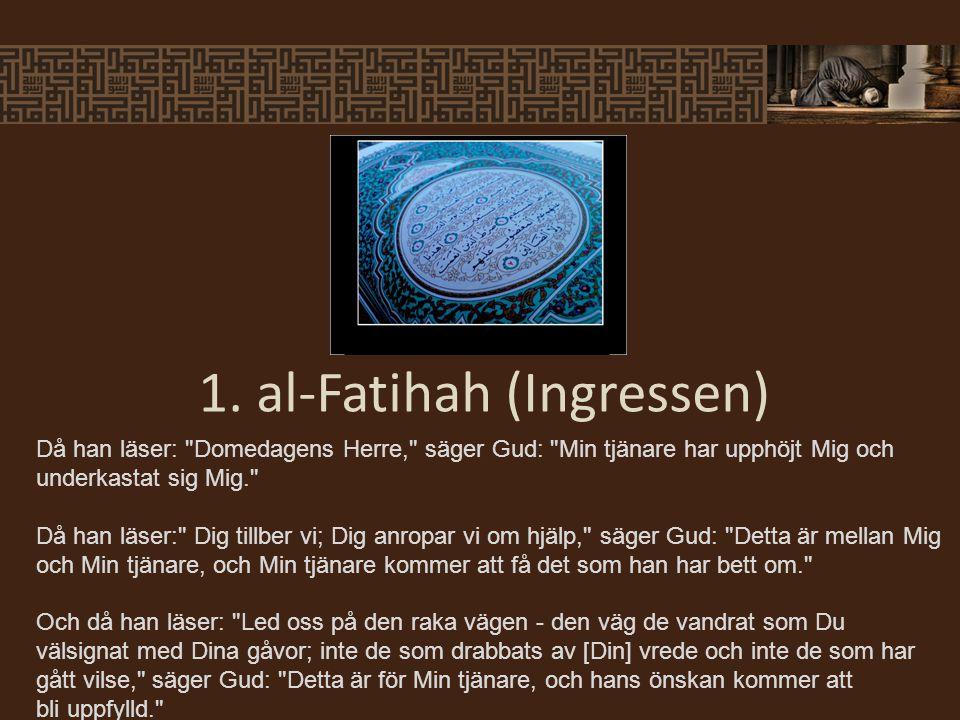 Profeten sa: Det närmaste en slav kan vara till sin Herre är när han har sitt ansikte på marken, åkalla därför Allah så mycket du kan. (Muslim) 2.