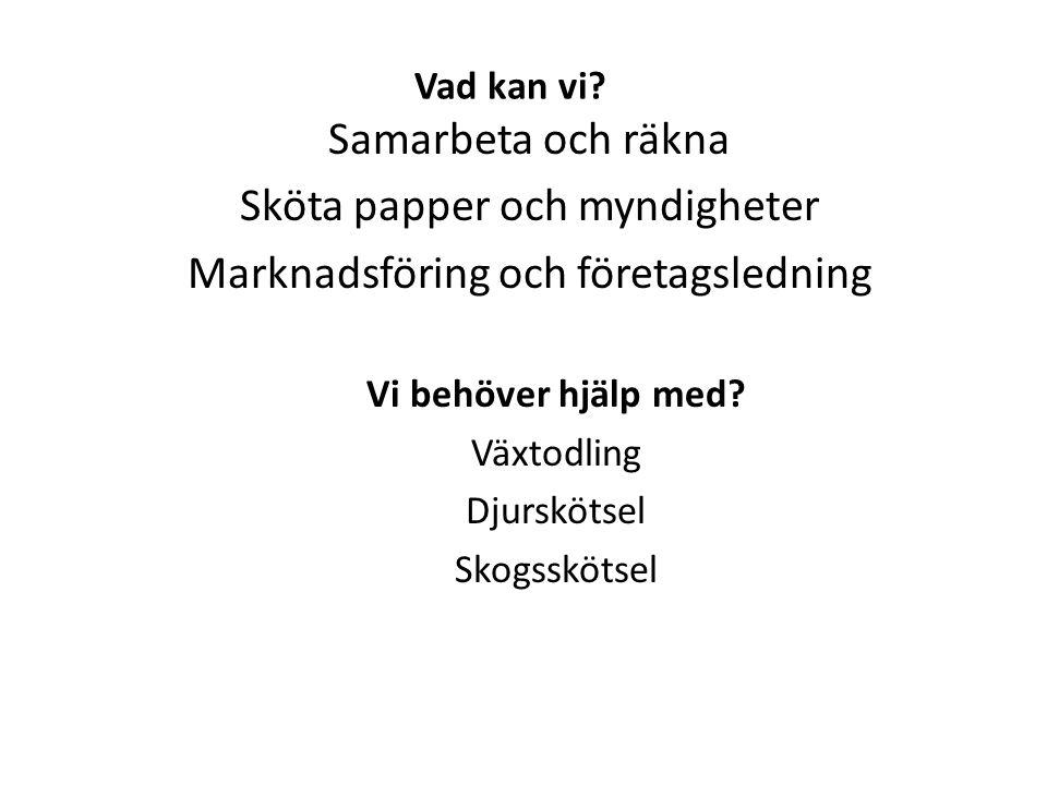 Samarbeten Gemensamt förvaltningsbolag för skogen – SSAB med Trolleholm och Maltesholm Maskinsamarbete – Lönnstorp, Trolleholm, Benarp, ………… – Maskinstationstanke; prislista, förare, faktura Maskinstationer är bättre på vissa uppgifter – Betala alltid räkningarna i tid!