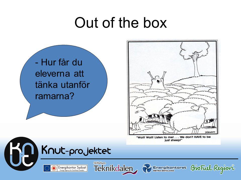 Out of the box - Hur får du eleverna att tänka utanför ramarna?