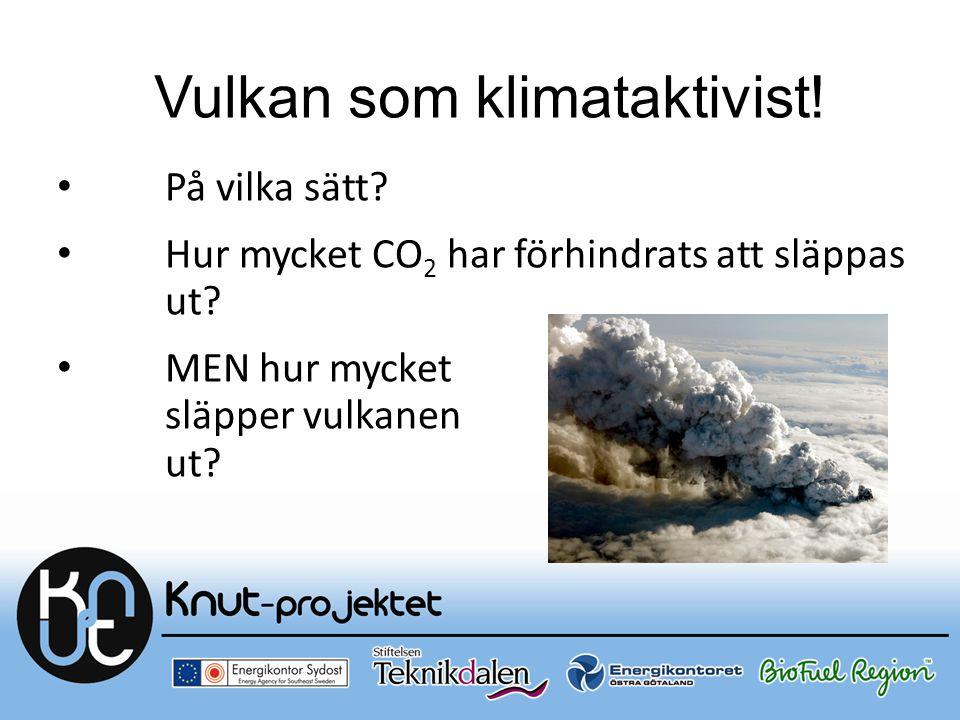 Vulkan som klimataktivist! På vilka sätt? Hur mycket CO 2 har förhindrats att släppas ut? MEN hur mycket släpper vulkanen ut?