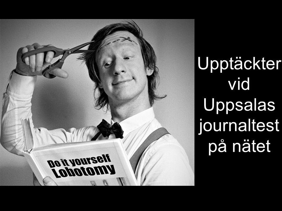 Upptäckter vid Uppsalas journaltest på nätet