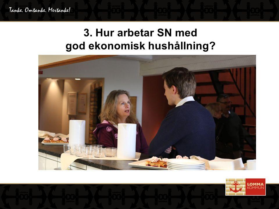 3. Hur arbetar SN med god ekonomisk hushållning