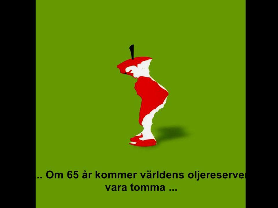 MEDVERKAN AV ALLMÄNHETEN www.transportlearning.net... Om 65 år kommer världens oljereserver vara tomma...