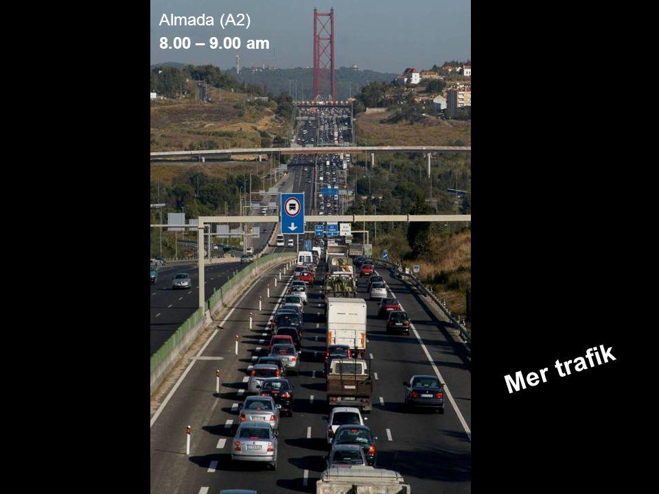 MEDVERKAN AV ALLMÄNHETEN www.transportlearning.net Almada (A2) 8.00 – 9.00 am Mer trafik