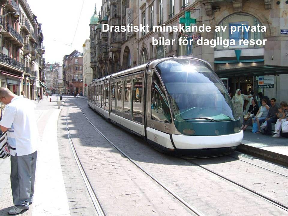MEDVERKAN AV ALLMÄNHETEN www.transportlearning.net Drastiskt minskande av privata bilar för dagliga resor