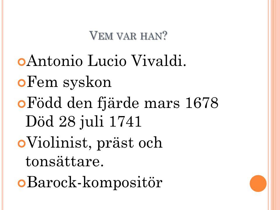 V EM VAR HAN .Antonio Lucio Vivaldi.