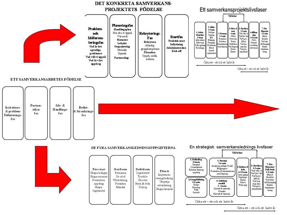 Samverkansledningens två ben Få det att fungera i nätverket Bemanna nätverket med rätt personer Skapa kreativa processer Driv genom frågorna på hemmaplan i linjeorganisationen Påverka hela organisationen Skapa genomförande