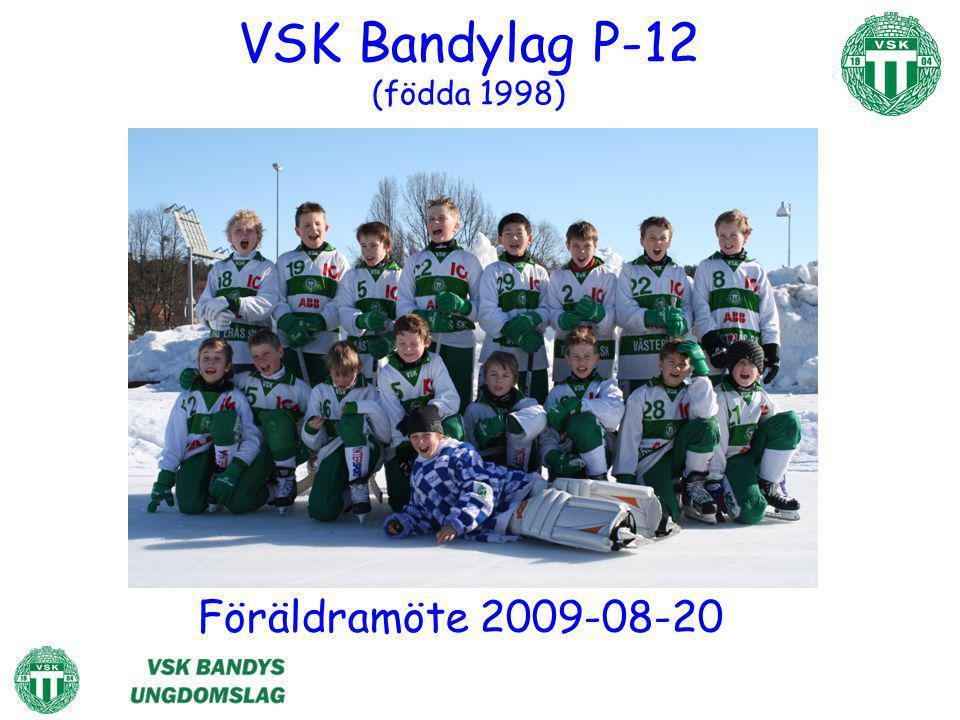 VSK Bandylag P-12 (födda 1998) Föräldramöte 2009-08-20