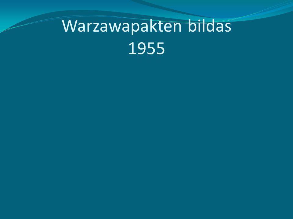 Warzawapakten bildas 1955