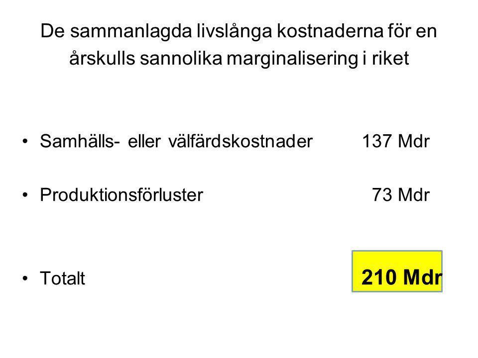 De långsiktiga kostnaderna för Olles utanförskap i svenska kronor