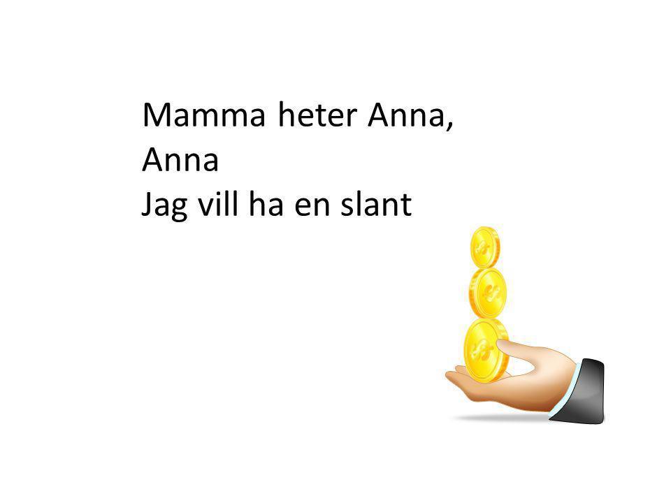 Mamma heter Anna, Anna Jag vill ha en slant