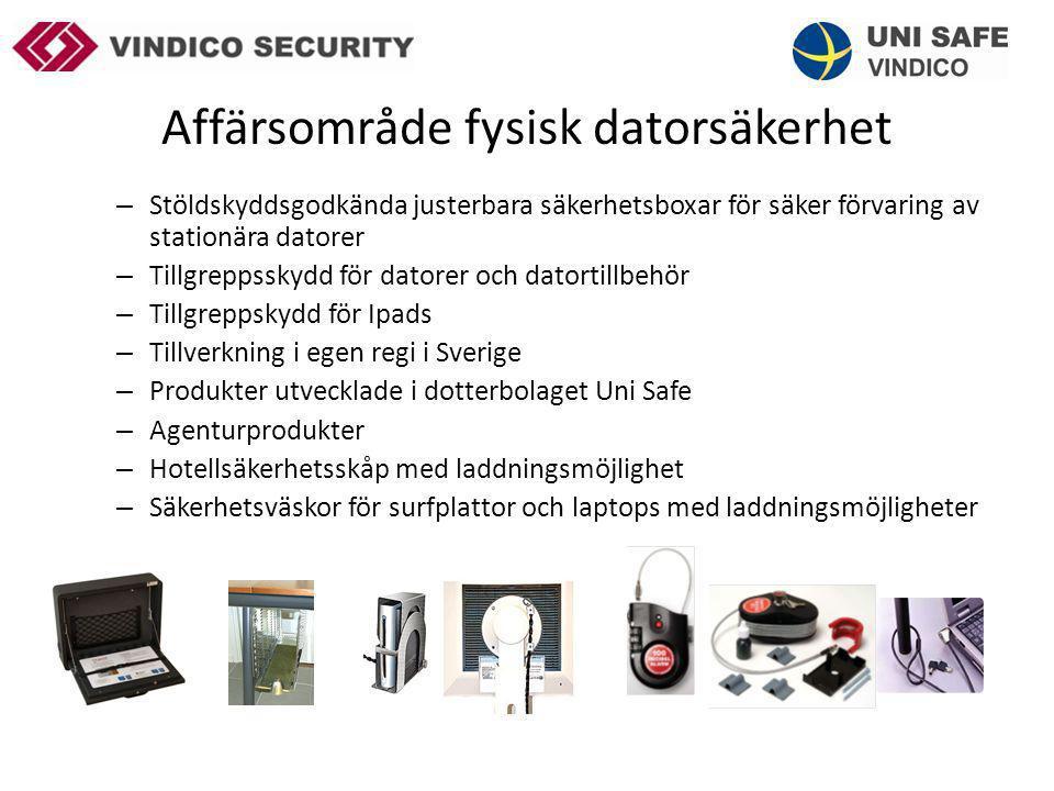 Affärsområde fysisk datorsäkerhet Elevdatorer En starkt växande marknad för våra Svenska IT- leverantörer.