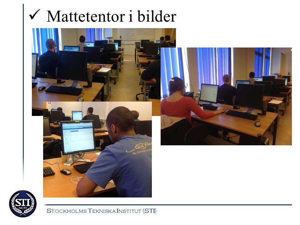 Stockholms Tekniska Institut (STI) Exempel på hur digitala tentor bidrar till återkoppling