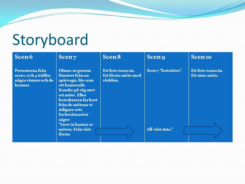Storyboard Scen 11 Resan fortsätter till och berättarrösten avslutar med orden: Är det någon skillnad på chefer och andra dödliga.